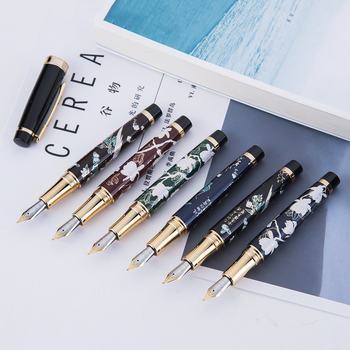 Chinese Style Hand-made HongDian Metal Fountain Pen Hand-Drawing Iridium EF/F/Bent Nib Ink Pen Excellent Business Writing Gift retro brass pen 0 5mm black ink hand made metal pen the tactical pen copper gift pen stylus private outdoor travel kit