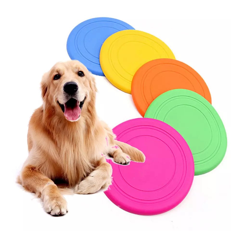 Colorful Toy For Puppy Dog Saucer Games Dogs Toys Large Pet Training Flying Disk Accessories French Bulldog Pitbull Cheap Goods