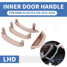 LHD RHD Black Beige Car Front Rear Left / Right Interior Door Handle Inner Panel Pull Trim Cover For BMW X3 X4 F25 F26 2010-2017 vfd high performance 380v 5 5kw frequency inverter of triple 3 phase