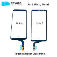 Novecel 삼성 갤럭시 S8 플러스 G955 참고 8 N950 터치 스크린 디지타이저 유리 패널 전면 유리 센서 터치 스크린 교체