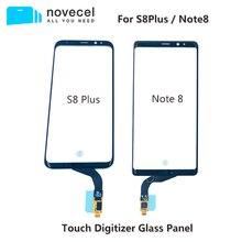 Novecel pour Samsung Galaxy S8 plus G955 Note8 N950 écran tactile numériseur panneau de verre avant capteur de verre écran tactile Relacement