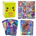 50-300 шт французская версия Pokemon Card с 300 шт 100 тегов команда 200 G x 150 V VMAX 20 EX 20MEGA