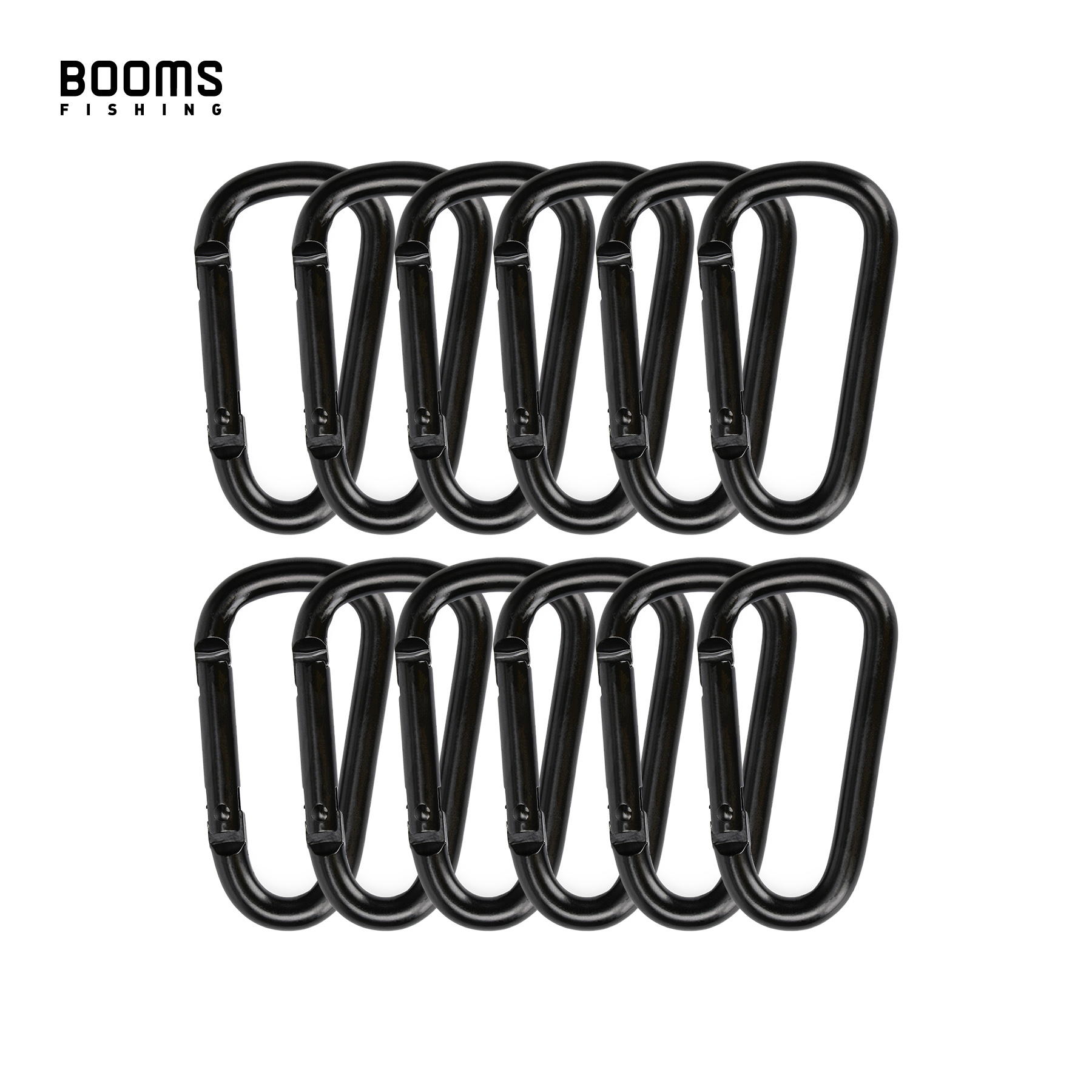 Booms Fishing CC2 Multi-Use Aluminum Alloy Carabiner Keychain Clips Outdoor Camping Climbing Snap Clip Lock Buckle Hook
