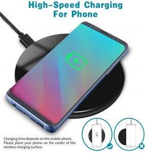 Image 2 - 무선 충전기 15W Qi 빠른 무선 충전기 전화 충전 패드 삼성 S9 S10 10W 아이폰 11 프로 XS 최대 XR Xiaomi Mi 9