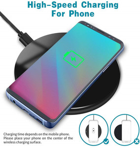 Image 2 - Wireless Charger 15W Qi Fast Wireless Charger Phone Charging Pad for Samsung S9 S10 10W for iPhone 11 Pro XS MAX XR Xiaomi Mi 9