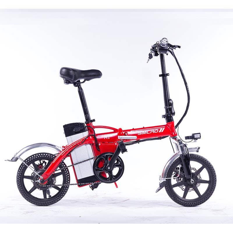 M2 14 Inch 48V 350W Electric Bike and E cycle Folding Ebike Bicycle with SINGLE SPEED 1