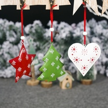 Christmas Bell Pendant Iron Decor For Home Tree Ornaments Xmas Gifts
