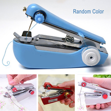 Mini Sewing Machine Portable Manual Stitch Fabric Handy Needlework Tool DIY SP99