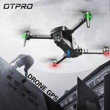 OTPRO 미니 Foldable 4K 와이파이 카메라 더블 전문 드론 GPS RC 헬리콥터 브러시리스 모터 지능형 다음 Quadcopter