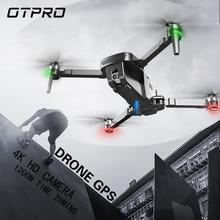 OTPRO Mini طوي 4K واي فاي كاميرا مزدوجة طائرة دون طيار مهنية لتحديد المواقع RC هليكوبتر فرش السيارات الذكية التالية كوادكوبتر
