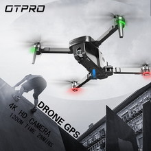 OTPRO Mini Foldable 4K WIFI Camera Double Professional  Drone GPS RC Helicopter Brushless Motor Intelligent Following Quadcopter