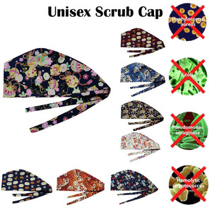 Printed cotton operating room hat doctor nurse long hair hat beautician dustproof gourd hat clinic nursing caps(China)