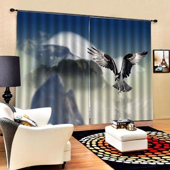nature scenery 3D Curtain Luxury Blackout Window Curtain Living Room Decoration curtains