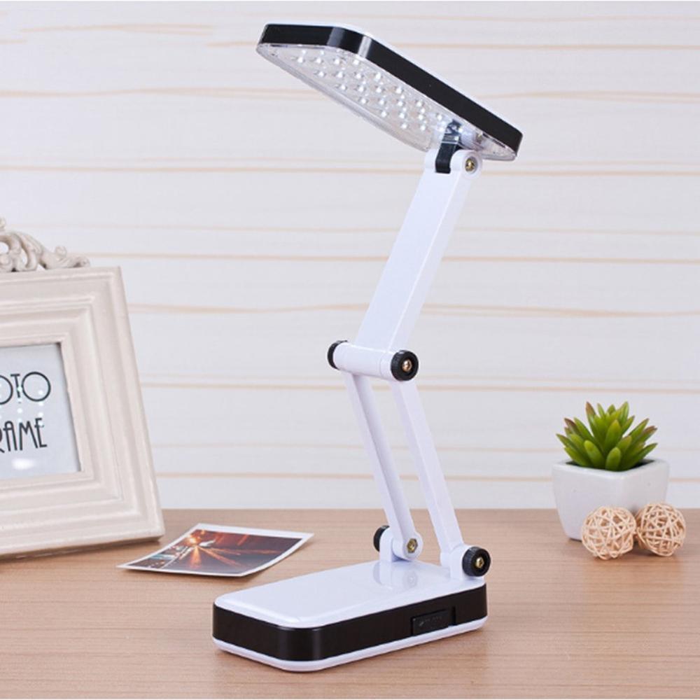 LED Rechargeable Desk Table Light Folding Lamp Bedroom Reading Writing Dormitory Lighting Eye Protection White Desk Lamp NEW