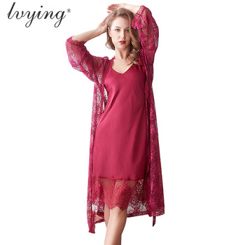 Women Pajama Set Sexy Robe Sets Sleepwear Sleep Tops Bathrobe Night Dress Nightgown Lace Lingerie Set Female Pajamas Nightwear sexy lace nightwear erotic lingerie sleepwear women summer see through sleep dress solid lace pajamas bath robe dress nightgown