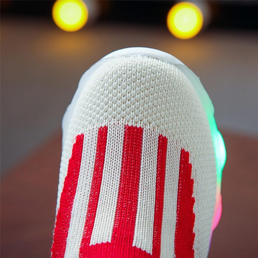 sport shoes kids led luminous running shoes light kids sneakers boy girls football sneakers lights krampon futbol orjinal #40J30 (17)