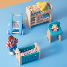 Аксессуары для украшения ванной комнаты деревянный мини кукольный