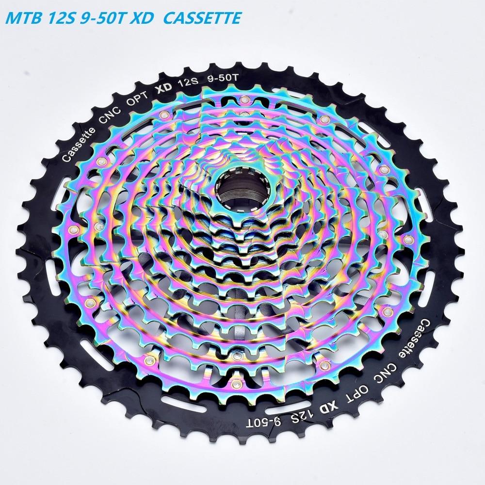 ZTTO MTB 12Speed 9-50T Cassette XD Cassette Black 540g Cassette 12s Freewheel K7
