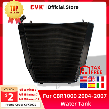 CVK Aluminium Radiator Cooler Cooling Water Tank For HONDA CBR1000RR 2004 2005 2006 2007 CBR1000 RR CBR 1000 04 05 06 07 black aluminum triple tree top clamp for honda cbr1000rr cbr 1000 rr 04 05 06 07 page 1