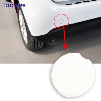Przedni i tylny zderzak samochodu hak przyczepy pokrywa otworu dla Mercedes Smart 453 Fortwo Forfour akcesoria do modyfikacji zewnętrznej samochodu tanie i dobre opinie TOONIES CN (pochodzenie) Inne naklejki 3d Zmieniające kolor Bez opakowania TCG-0906