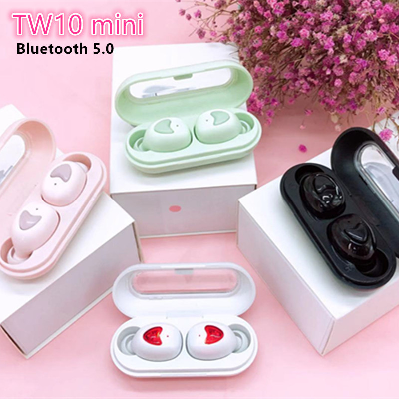 TWS TW10 Mini Wireless <font><b>Bluetooth</b></font> earphones <font><b>5.0</b></font> Stereo HiFi Earbuds in-ear Touch Sport waterproof Headphones For all <font><b>Smartphones</b></font> image