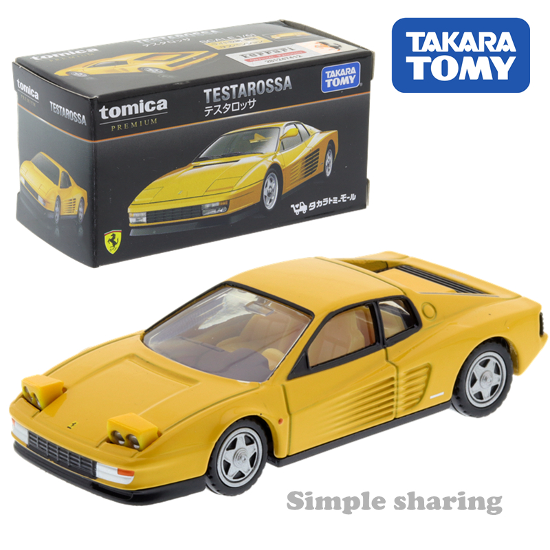 Takara Tomy Tomica Shop Testarossa Car Toy Model Kit Diecast Miniature Kids Puppet Magic Baby Toys Roadster Bauble