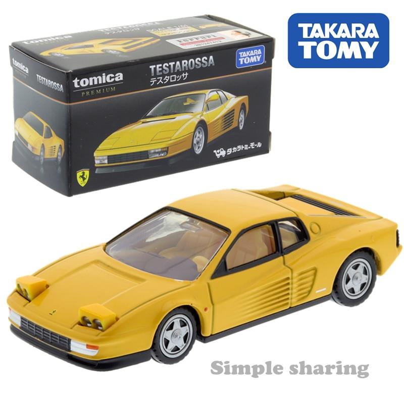 Takara Tomy Tomica Shop Testarossa Car Toy Model Kit Diecast Miniature Kids Puppet Magic Baby Toys Roadster Bauble