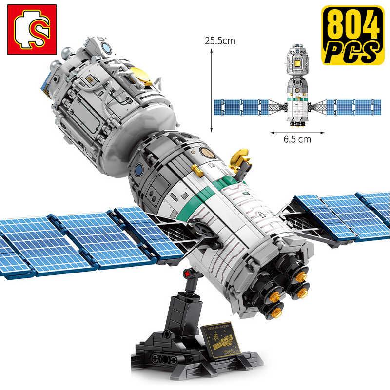 SEMBO Creator uzman teknik fikirleri yapı taşları çin uluslararası uzay istasyonu uzay aracı doğum günü erkek arkadaşı hediye oyuncaklar
