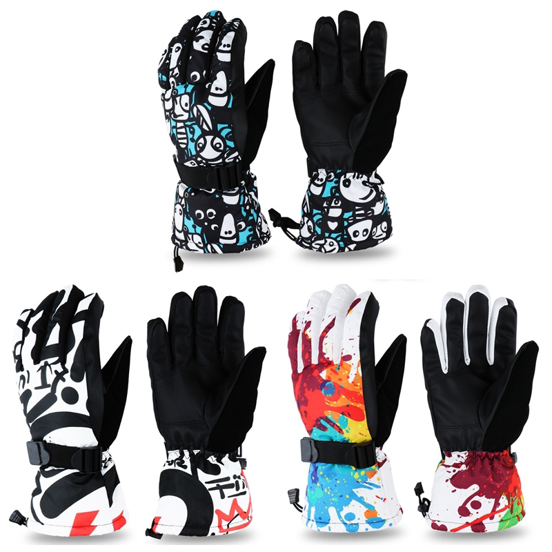Antiskid Wear Resistant Mountain Skiing Snowmobile Waterproof Windproof Fleece Riding Ski Gloves Snow Motorcycle Gloves