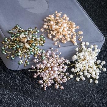 Fashion  brooch  gorgeous accessories Women wedding dress  freshwater pearl handmade beaded cluster brooch jewelry