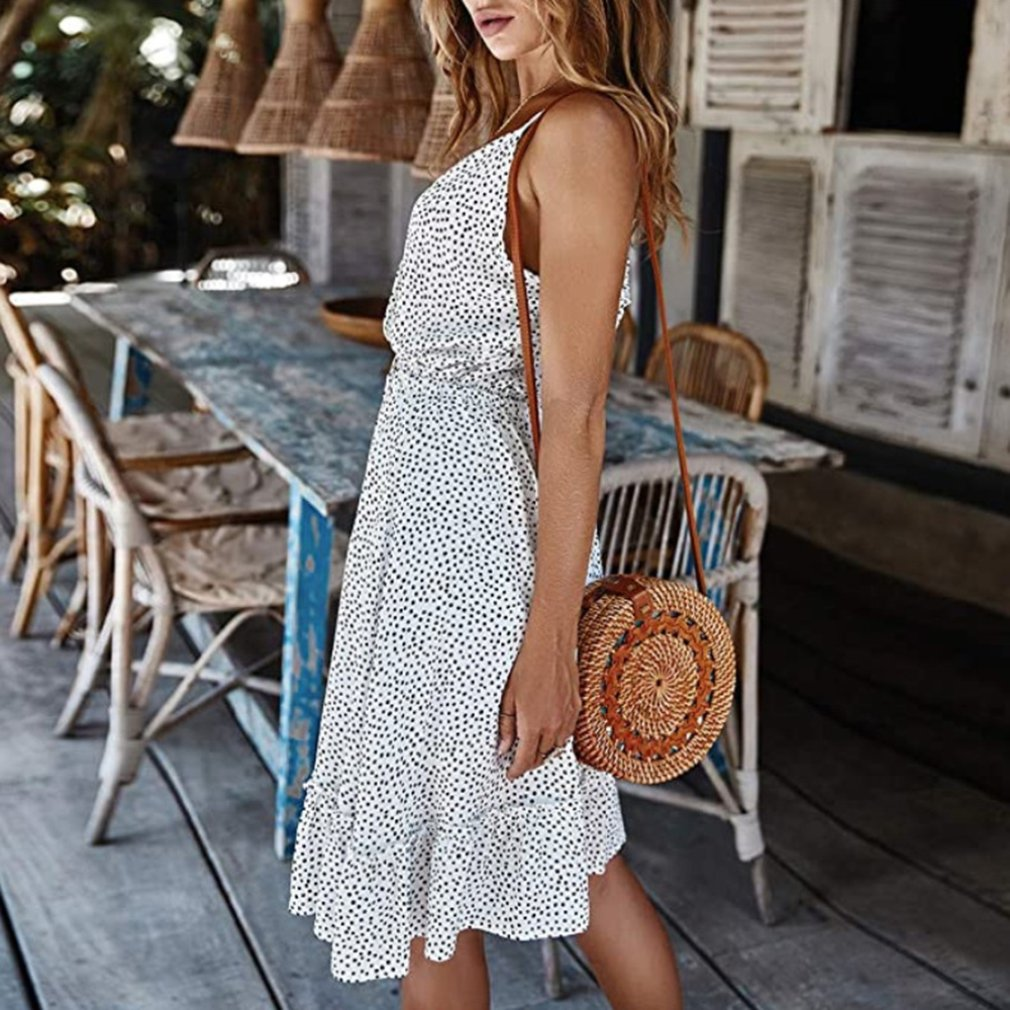 Summer Women V-Neck Dress  5