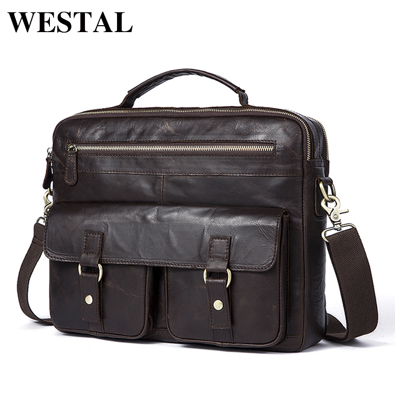 Fashion Men Bag Briefcases Genuine Leather Crossbody Bags Messenger Totes Leather Handbags Laptop Bags Shoulder Bags Men 7120