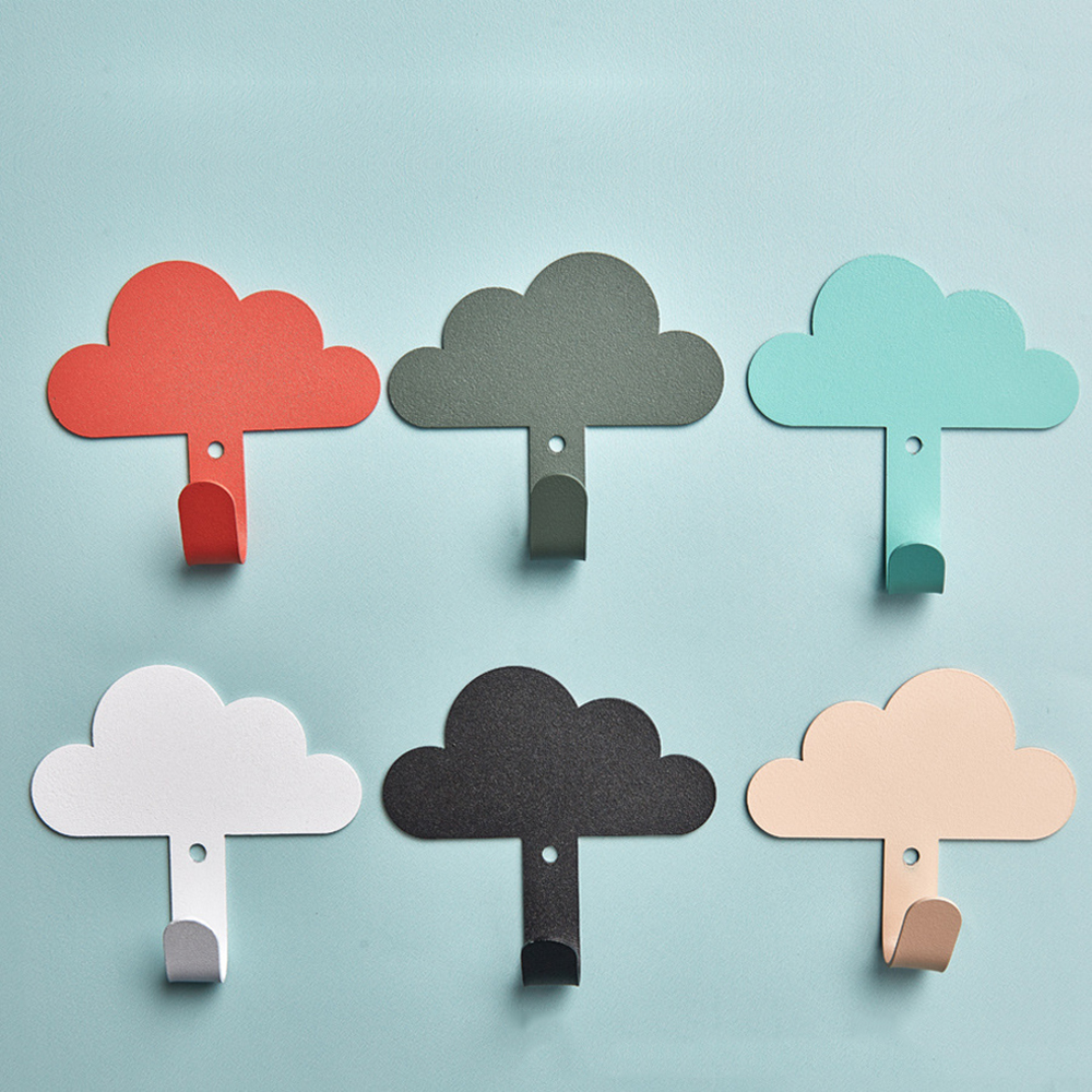 Useful Nordic Clothes Hanger Wall Mounted Coat Hook Cloud Shape Hook Kid Room Wall Decoration Children Room Decorative Hanger