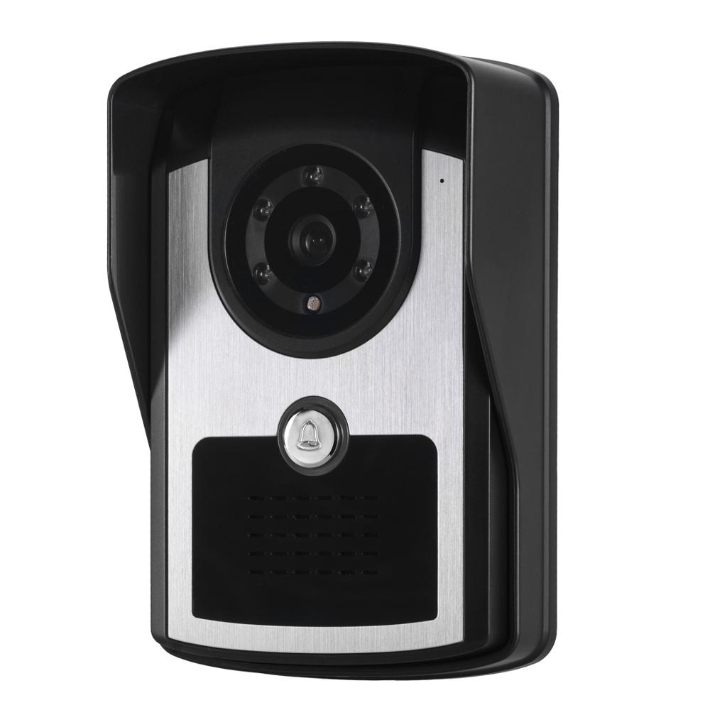 Купить с кэшбэком WIFI+Wired Video Doobell Intercom Doorphone Home Security System Waterproof IR Night Vision Camera