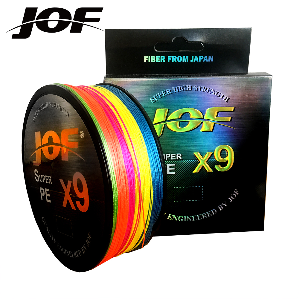 Multicolor 9 Strands 100M 300M 500M PE Braid Fishing Line Sea Saltwater Fishing Weave 100% SuperPower JOF