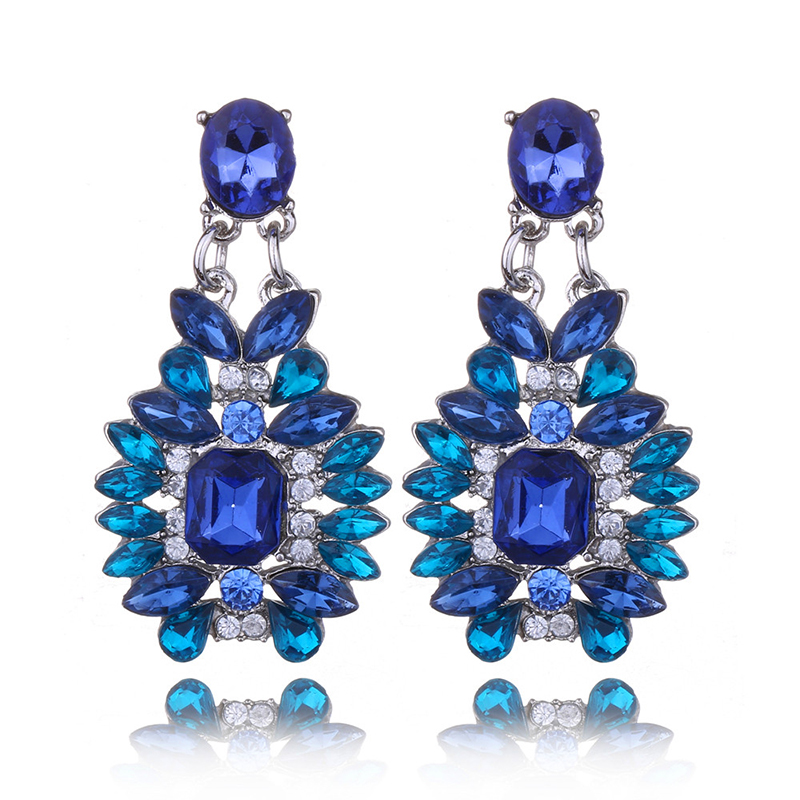 New-Fashion-Hot-Sell-Personality-Geometric-Earring-Elegant-Crystal-Gem-Earrings-for-Women-Free-Shipping-boucle