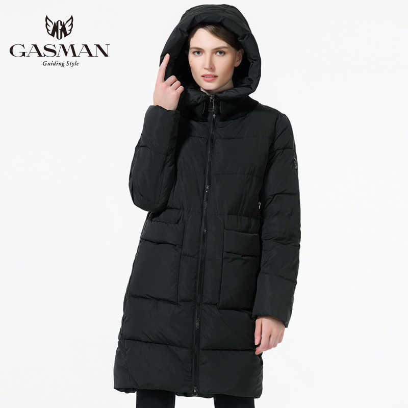 GASMAN 2019 moda kadın kış giysileri Parka kapşonlu aşağı ceket orta uzunlukta rahat kış kalınlaşma ceket artı boyutu 5XL 6XL