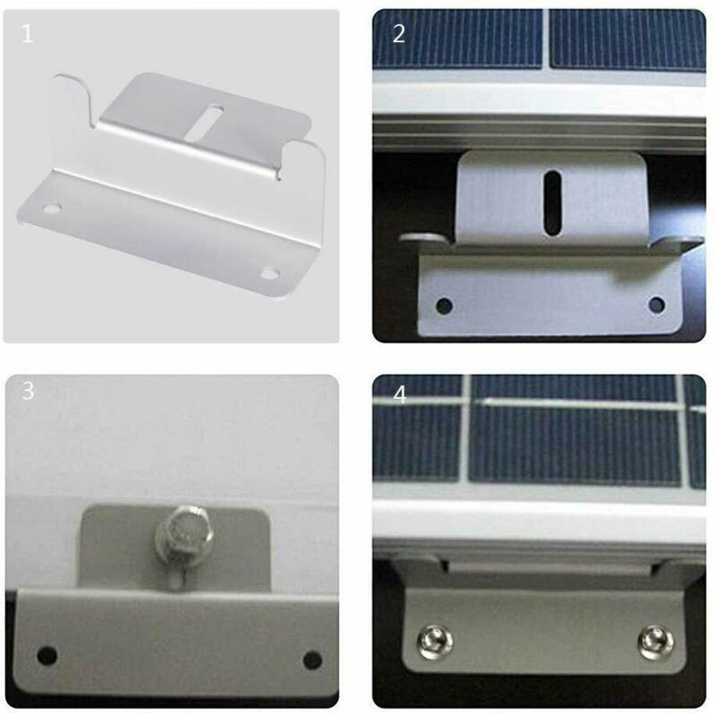 17PCS Solar Panel Mounting Z Brackets With Nuts And Bolts RV Boat Roof Wall Wrench Solar Panel Mounting Side Brackets Corner