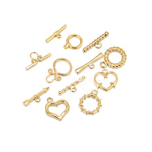 5 Sets Stainless Steel Gold Toggle Clasps for Bracelet Necklace Chunky OT Clasp DIY Jewelry Making Findings