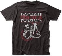 Camiseta masculina distorção social bola e corrente tour cabido t-shirts 100% algodão masculino tshirt