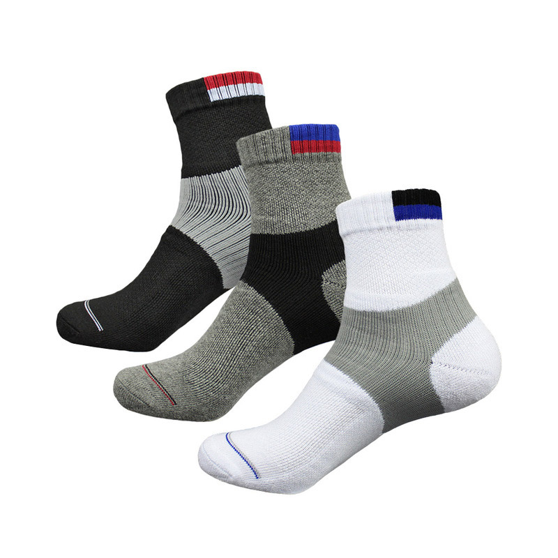 Men Sport Socks Outdoor Badminton Tennis Baseball Table Tennis Padded Sole Protection Cotton Sock