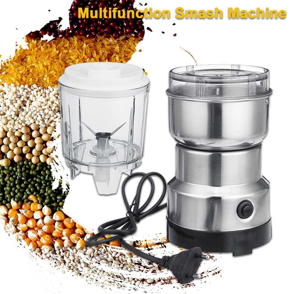 2 In 1 Electric Coffee Grinder Kitchen Cereals Nuts Beans Spices Grains Grinder Machine Multifunctional Portable Blender Juicer