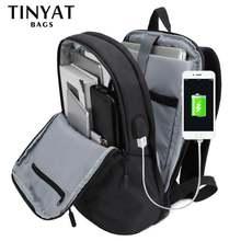 рюкзак мужской Мужской для ноутбука с usb портом tinyat диагональю