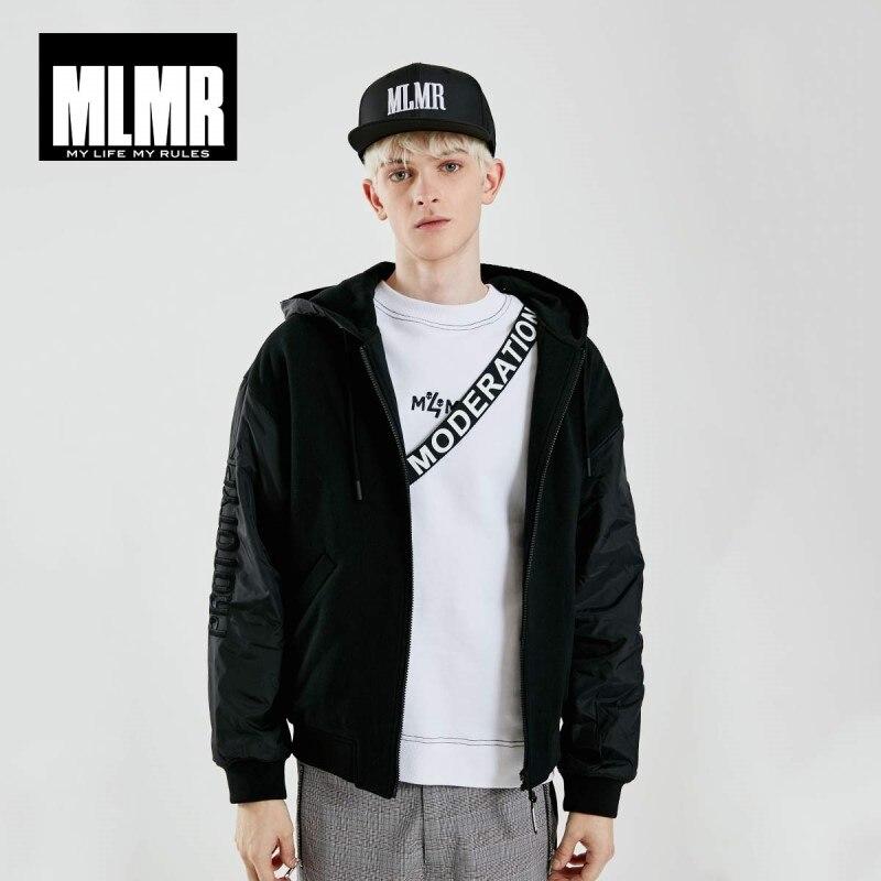 JackJones Men's Hooded With Drawstring Spliced Letter Embroidery Streetwear Style Jacket| 219121551