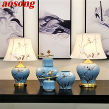 Керамические настольные лампы aosong латунный светильник из