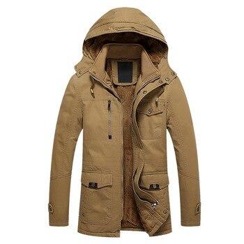 Men Winter Jacket Warm Coat Quick Dry Military Style Army Coat Male 2020 Multi Pockets Hooded Windbreaker Waterproof Causal