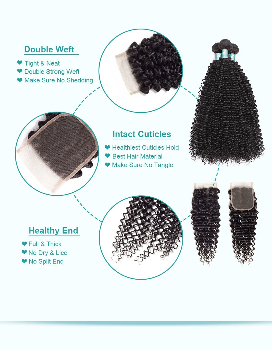 afro curly bundles with closure3+4_07