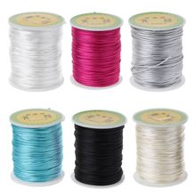 Colorful 80 Meters Satin Silk Rope Nylon Cord For Baby Teether Accessories Teeth