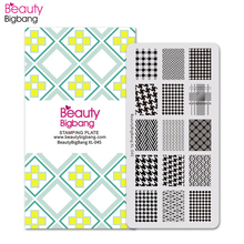 BeautyBigBang Nail Stamping Plates Winter Sweater Lines Striped Pattern Nails Template Art Stamp Plate Mold BBB XL-045