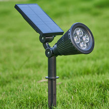 4 LED Lawn Lamp Solar Spotlight Outdoor Garden LED Landscape Light for Patio Decor With Solar Panel